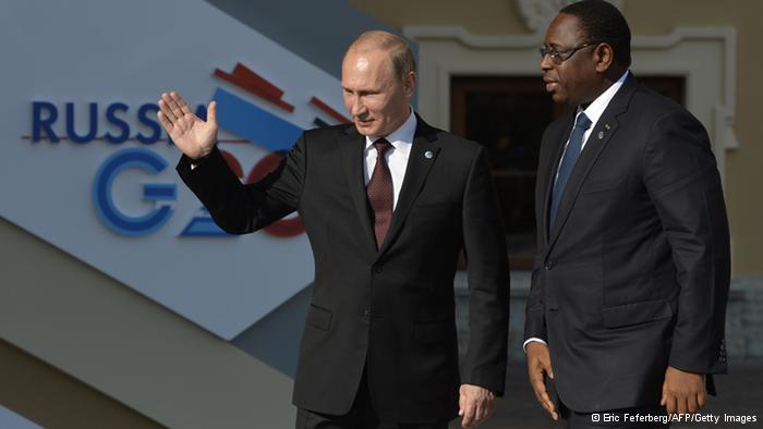 Vladimir Poutine et Macky Sall