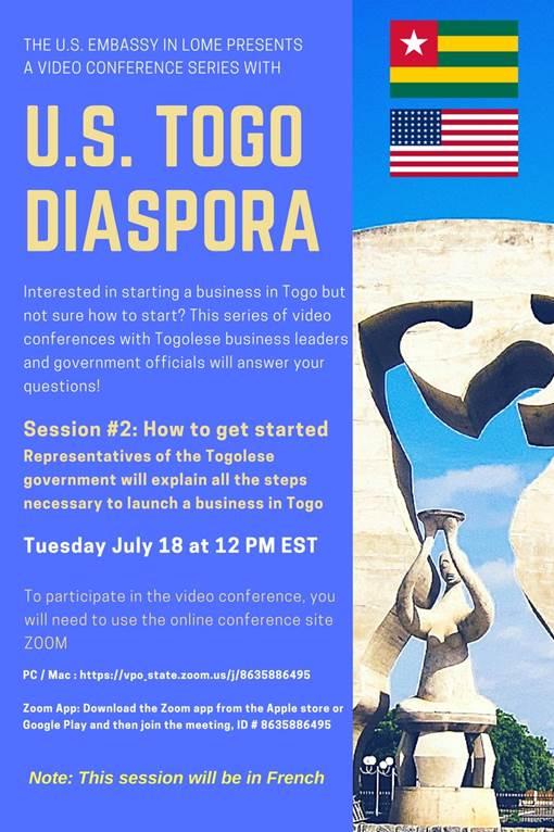 Invitation to the Togolese Diaspora to participate in a Video Conference