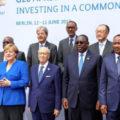 Michelle Lagarde et la chancelière Angela Merkel avec les présidents africains .Berlin 12 juin 2017 - G20 investir dans un avenir commun
